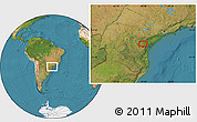 Satellite Location Map of Taquari