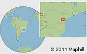 Savanna Style Location Map of Taquari