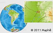 Physical Location Map of Colonia Veintiuno de Julio