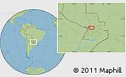 Savanna Style Location Map of Colonia Veintiuno de Julio