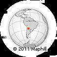 Outline Map of El Encón, rectangular outline