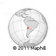 Outline Map of Río Frío, rectangular outline