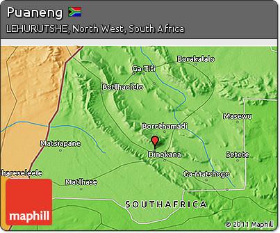 Free Political 3D Map of Puaneng