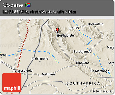 Free Shaded Relief 3D Map of Gopane