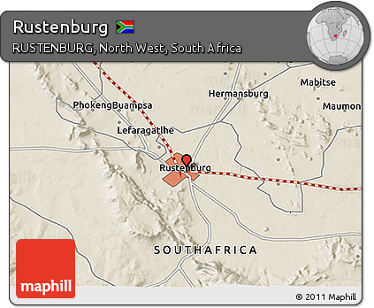 Free Shaded Relief 3D Map of Rustenburg
