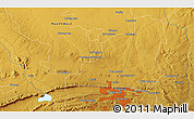 """Physical 3D Map of the area around 25°31'56""""S,28°7'30""""E"""