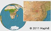 "Satellite Location Map of the area around 25°31'56""S,28°7'30""E"