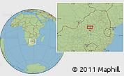 "Savanna Style Location Map of the area around 25°31'56""S,28°7'30""E"