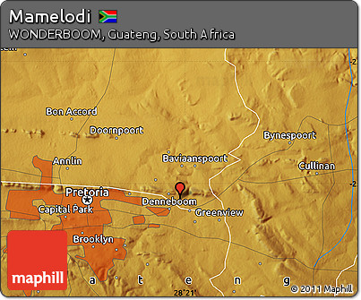 Free Physical Map of Mamelodi