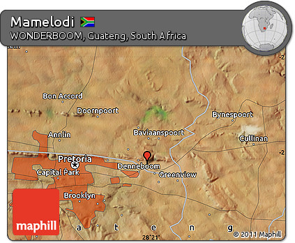 Free Satellite Map of Mamelodi