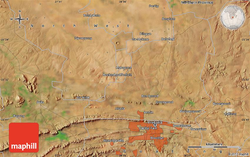 Satellite Map of Mamelodi