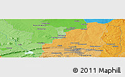 """Political Panoramic Map of the area around 25°31'56""""S,28°7'30""""E"""