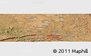 "Satellite Panoramic Map of the area around 25°31'56""S,28°7'30""E"
