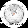 Outline Map of Nelspruit, rectangular outline