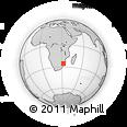 Outline Map of Ressano Garcia, rectangular outline