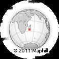 Outline Map of Ambatovato, rectangular outline