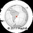 Outline Map of Fonte Velha, rectangular outline