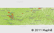 """Physical Panoramic Map of the area around 25°31'56""""S,54°19'30""""W"""