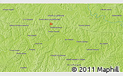 """Physical 3D Map of the area around 25°31'56""""S,55°10'29""""W"""