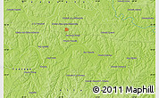 """Physical Map of the area around 25°31'56""""S,55°10'29""""W"""