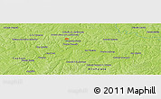 """Physical Panoramic Map of the area around 25°31'56""""S,55°10'29""""W"""