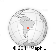 Outline Map of Villarrica, rectangular outline