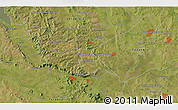 """Satellite 3D Map of the area around 25°31'56""""S,56°52'30""""W"""