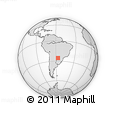 Outline Map of Coronel Martínez, rectangular outline