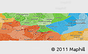"""Political Panoramic Map of the area around 25°31'56""""S,56°52'30""""W"""