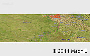 "Satellite Panoramic Map of the area around 25°31'56""S,57°43'30""W"