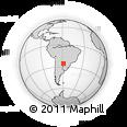Outline Map of Teniente General Juan Carlos Sánchez, rectangular outline