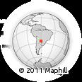Outline Map of Fortín Lavalle, rectangular outline