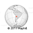 Outline Map of Guachipas, rectangular outline