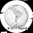 Outline Map of Angostura, rectangular outline
