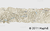 Shaded Relief Panoramic Map of Liude