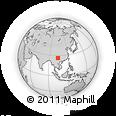 Outline Map of Laibin, rectangular outline