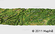 Satellite Panoramic Map of Rongcheng