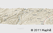 Shaded Relief Panoramic Map of Rongcheng