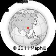 Outline Map of Guanying, rectangular outline