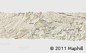 Shaded Relief Panoramic Map of Guanying