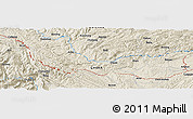 Shaded Relief Panoramic Map of Najia