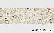 Shaded Relief Panoramic Map of Doupeng