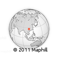 """Outline Map of the Area around 26° 21' 4"""" N, 108° 1' 30"""" E, rectangular outline"""