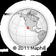 Outline Map of Cadege, rectangular outline