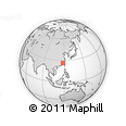 Outline Map of Shaxian, rectangular outline