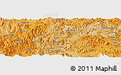 Political Panoramic Map of Bandong