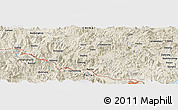 Shaded Relief Panoramic Map of Bandong