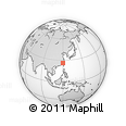 """Outline Map of the Area around 26° 21' 4"""" N, 119° 55' 30"""" E, rectangular outline"""