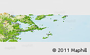 """Physical Panoramic Map of the area around 26°21'4""""N,119°55'30""""E"""