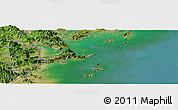 "Satellite Panoramic Map of the area around 26°21'4""N,119°55'30""E"